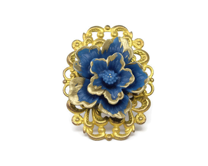 Ring Bouquet ~ Blue Sakura