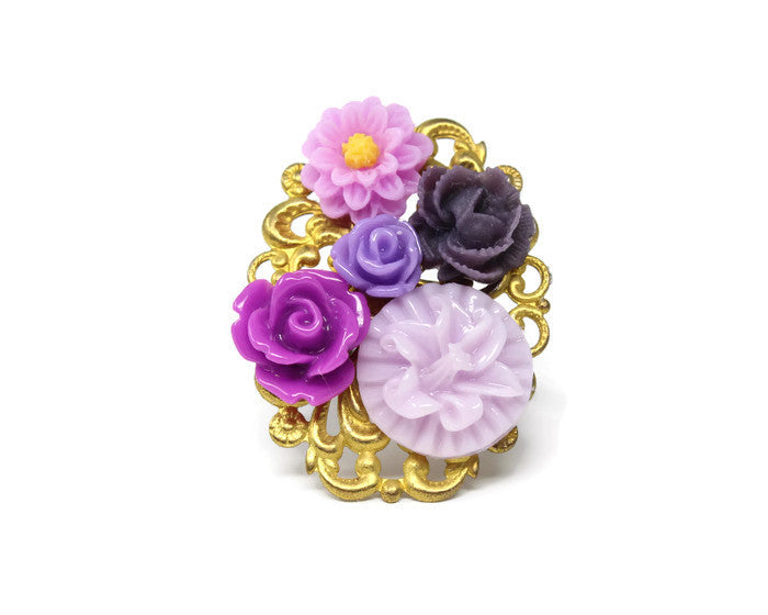Ring Bouquet in Mulberry Wine