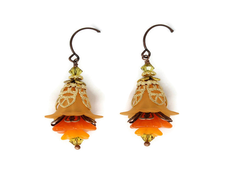 FLORAL EARRINGS ~ Autumn Dreams