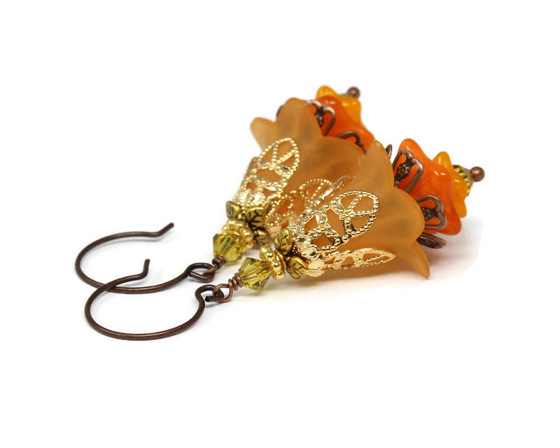 Floral Earrings in Autumn Dreams