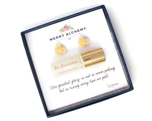 Essential Oil Jewelry Gift Set in Be Awesome