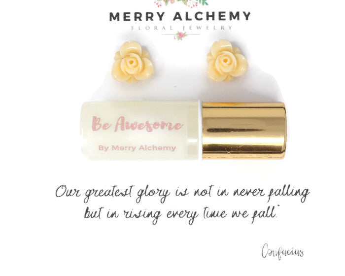 Essential Oil Jewelry Gift Set ~ BE AWESOME