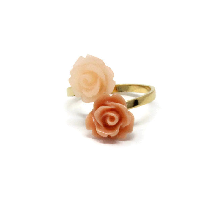 Blooming Ring ~ Peach Rose