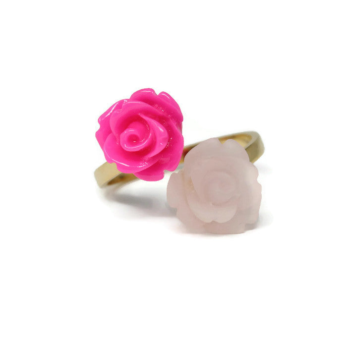 Blooming Ring ~ Frosted Fuchsia