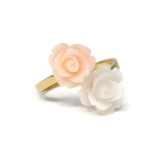 Blooming Ring in Frosted Peach Blossom