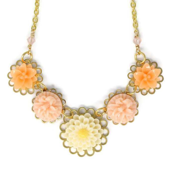 "Necklace Bouquet 20"" ~ Whipped Tangerine"