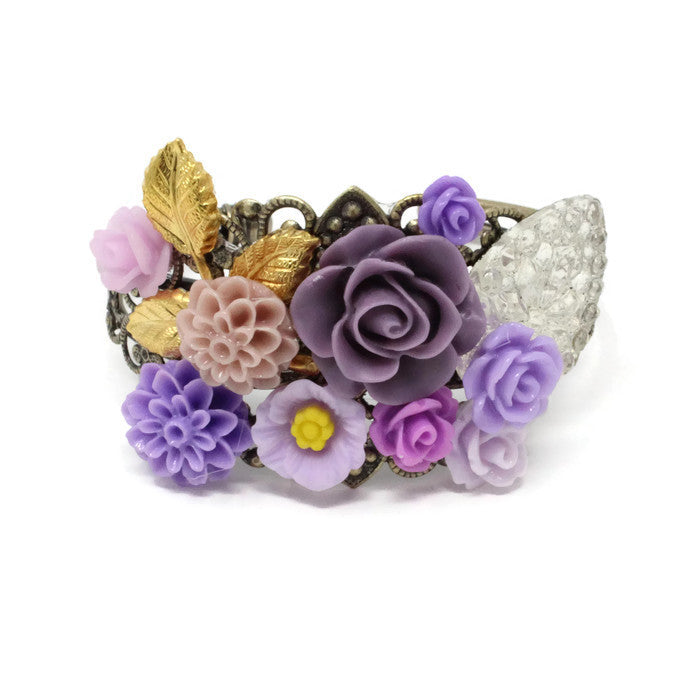 Garden Cuff ~ Purple Sparkle
