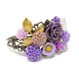 Garden Cuff in Purple Sparkle