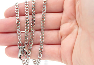 Convertible Mask Lanyard Necklace - Stainless Steel Twist Chain