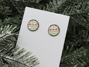 Ugly Christmas Sweater Stud Earrings