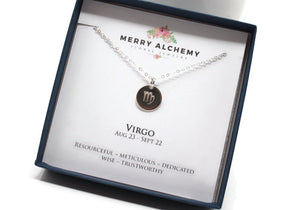 Virgo Zodiac Necklace in Sterling Silver