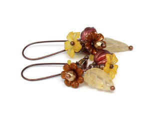Floral Earrings in October Bounty