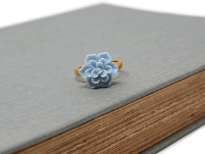 Succulent Ring in Powder Blue