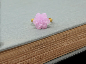 Succulent Ring in Purple Sparkle