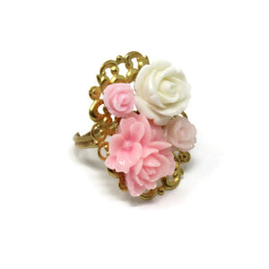 Ring Bouquet in Hues of Pink