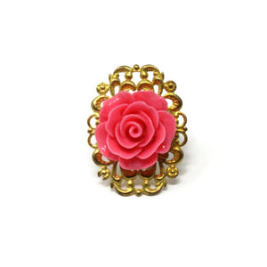 Ring Bouquet in Single Strawberry Pink Rose