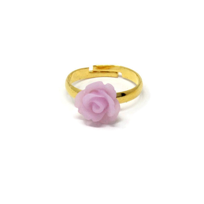 Sunlit Blooms Stacking Ring ~ Frosted Lilac Rose