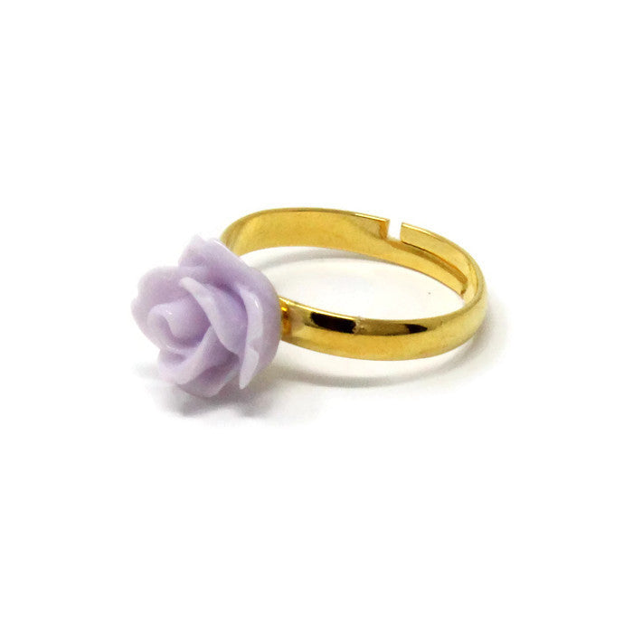 Sunlit Blooms Stacking Ring ~ Thistle Rose