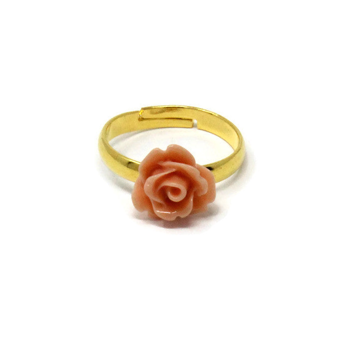 Tiny Petals Stacking Ring ~ Dusk Pink Rose
