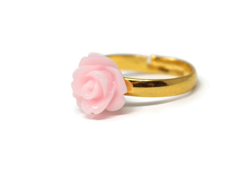 Tiny Petals Stacking Ring ~ Baby Pink Rose