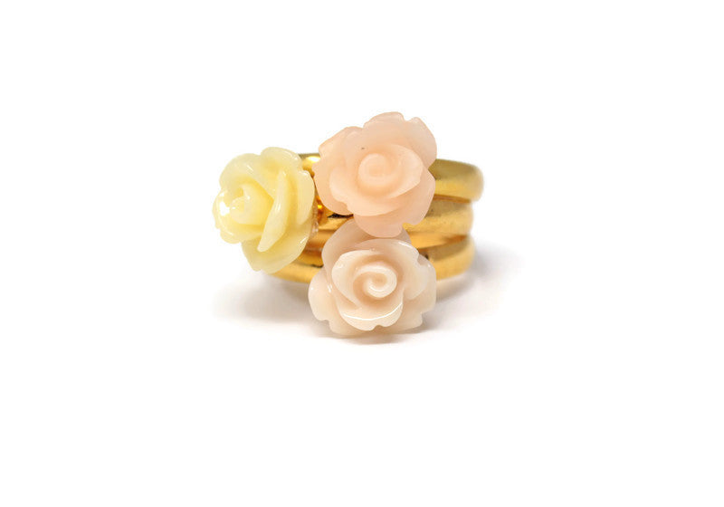 Tiny Petals Stack ~ Peachy Garden Stack of 3