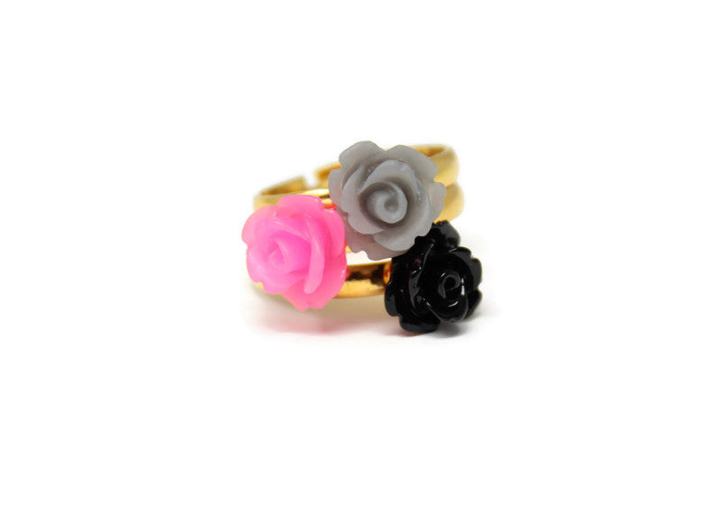 Tiny Petals Stack ~ Hot Pink Winter Stack of 3