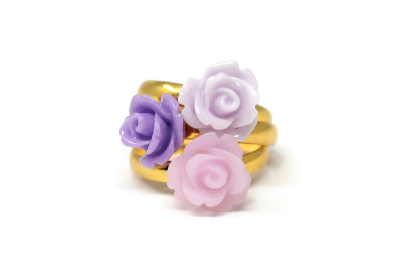 Tiny Petals Stack ~ Violet Stack of 3