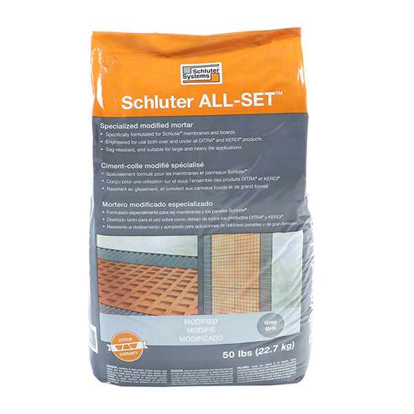 CIMENT SCHLUTER  ALL-SET GRIS 50 LBS