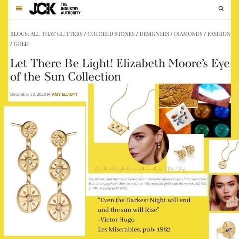 JCK Elizabeth Moore Eye of the Sun Jewelry Dec 2020