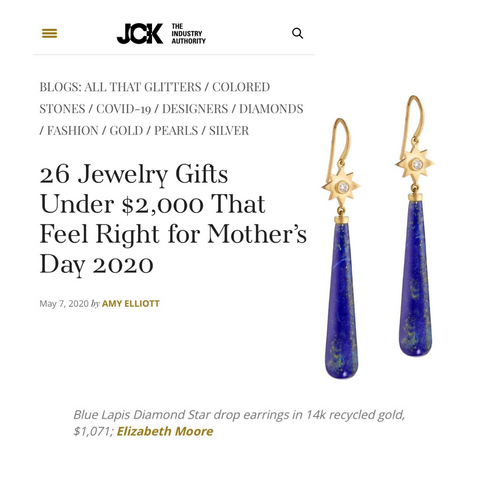 Elizabeth Moore Jewelry for Mother's Day May 2020