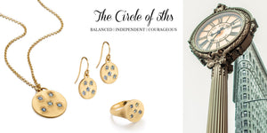 Elizabeth Moore Jewelry Gold Necklace Everyday Every Day Elegant Earrings Ring Sustainable NYC Conscious The Circle of 5ths fifths