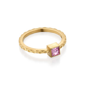 Pale Pink Spinel Infinity Ring