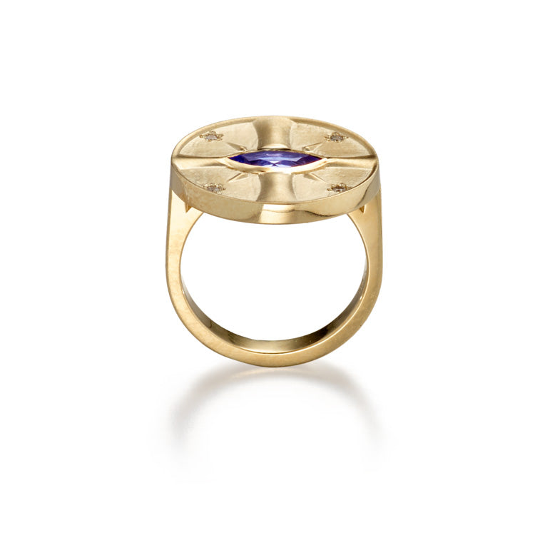 Eye of the Sun Tanzanite Ring