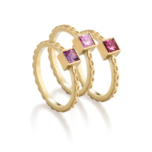 Pink Spinel Infinity Band