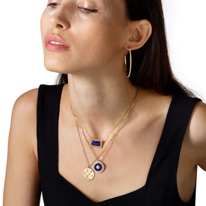 Lapis Infinity Pendant Necklace