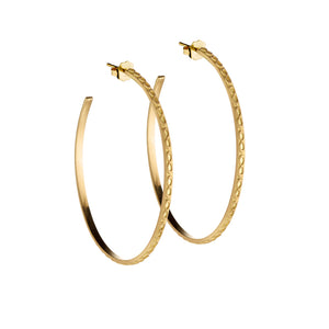 18K Gold Large Infinity Hoops