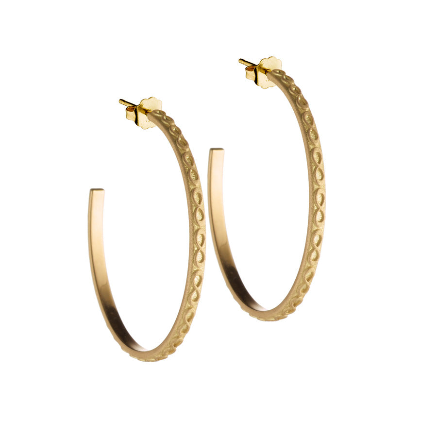 18K Gold Medium Infinity Hoops