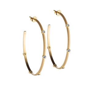 Circle of 5th's Montana Sapphire Hoops