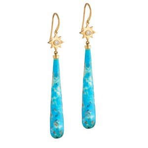 Diamond Star Turquoise Drops