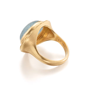 Infinity Aquamarine Cocktail Ring