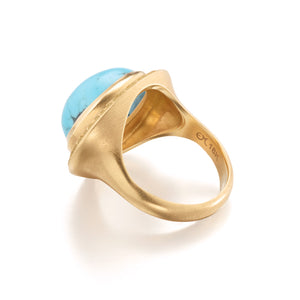 Kingman Turquoise Star Cocktail Ring