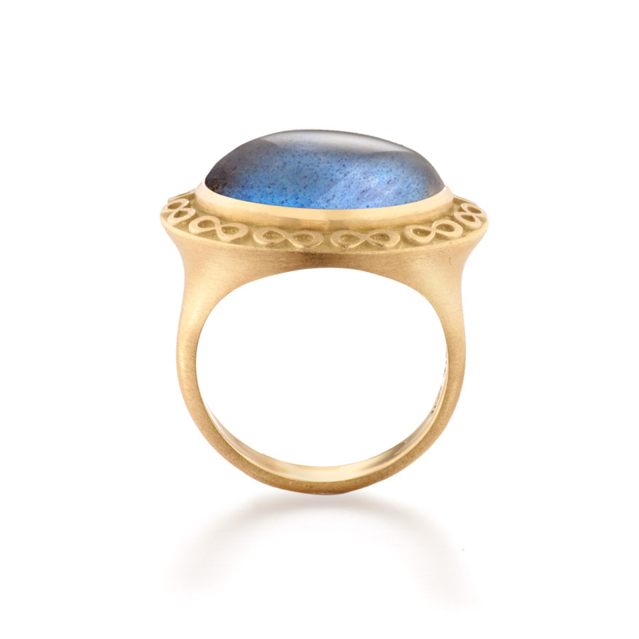 Infinity Labradorite Cocktail Ring