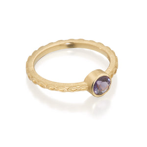 Purple Spinel Infinity Ring