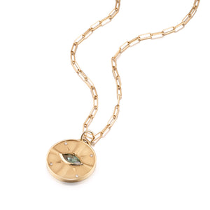 Oregon Sunstone Eye of the Sun Pendant