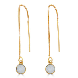 Moonstone Vermeil Threaders