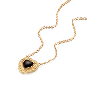 Black Onyx Heart Pendant