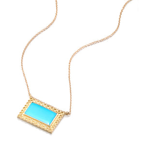 Kingman Turquoise Infinity Pendant Necklace