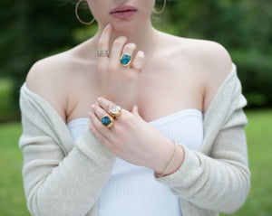 Diamond Opal Infinity Cocktail Ring