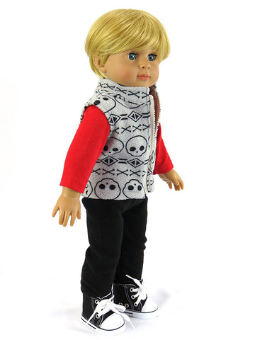 18 Inch Boy Doll 3 Piece Outfit
