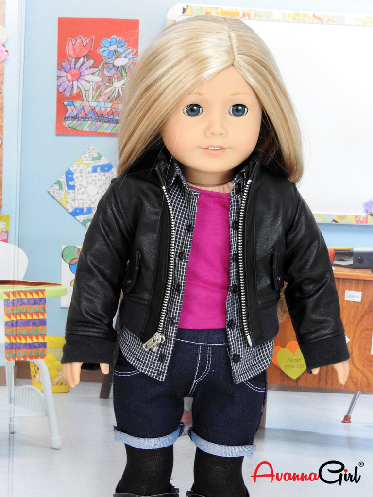 Trendy 6 Piece Back To School Outfit For American Girl -9342